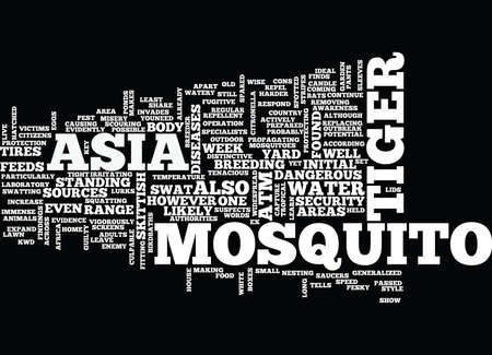 ASIAN TIGER MOSQUITO Text Background Word Cloud Concept