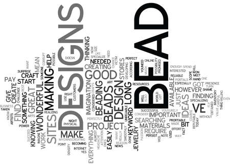 BEAD KITS Text Background Word Cloud Concept