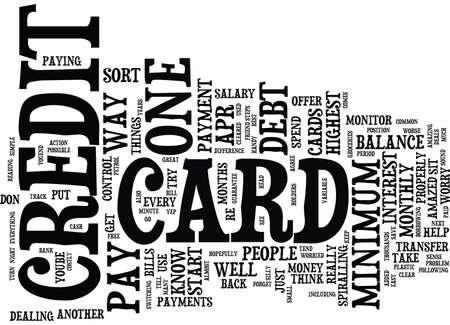 クレジット カード債務本文背景単語雲概念を心配しています。