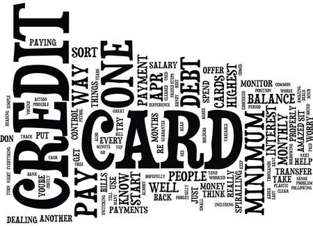 ARE YOU WORRIED ABOUT CREDIT CARD DEBT Text Background Word Cloud Concept