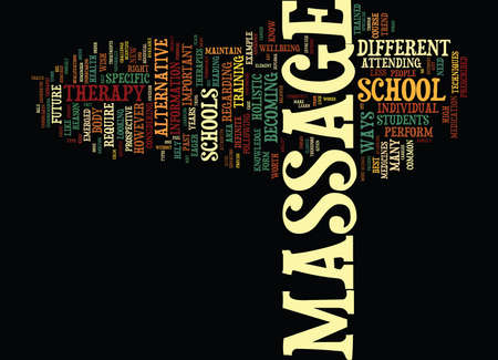 ARE YOU CUT OUT FOR MASSAGE SCHOOL Text Background Word Cloud Concept Ilustrace