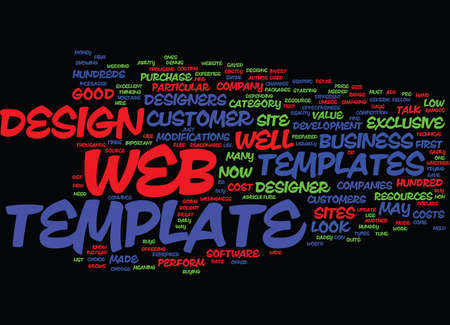 ARE WEB TEMPLATES WORTH IT Text Background Word Cloud Concept