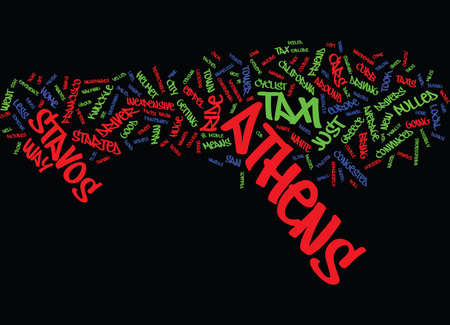 ATHENS TAXI RIDE EXTREME SPORTS Text Background Word Cloud Concept