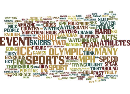 ARMCHAIR OLYMPIAN Text Background Word Cloud Concept