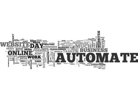 AUTOMATE AUTOMATE AUTOMATE Text Background Word Cloud Concept