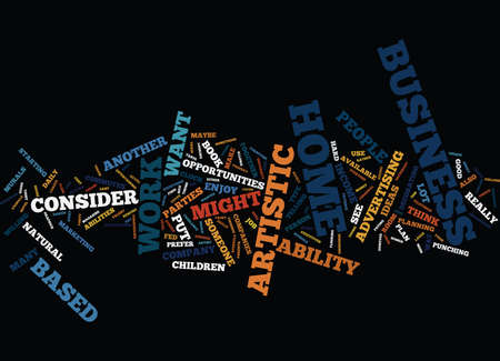 ARTISTIC BUSINESS OPPORTUNITIES Text Background Word Cloud Concept