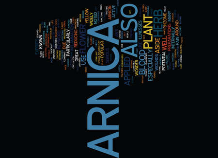 ARNICA Text Background Word Cloud Concept