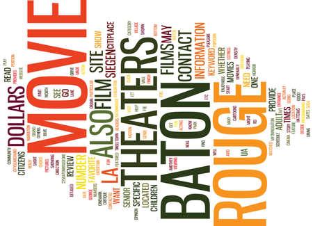 BATON ROUGE NEWS Text Background Word Cloud Concept Çizim