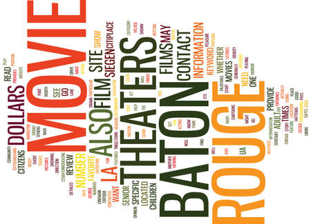BATON ROUGE NEWS Text Background Word Cloud Concept Illustration