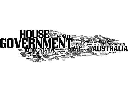 AUSTRALIA GOVERNMENT Text Background word cloud concept Illustration