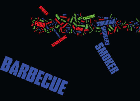 BARBECUE TIPS Text Background word cloud concept Çizim