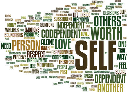 ARE YOU CODEPENDENT OR INDEPENDENT Text Background word cloud concept Illustration