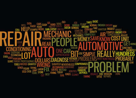 AUTO REPAIR Text Background word cloud concept