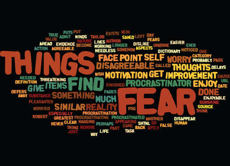 ARE YOU A PROCRASTINATOR Text Background word cloud concept
