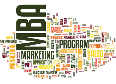 prepare: ARE YOU A SUITABLE MBA CANDIDATE Text Background Word Cloud Concept