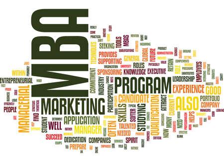 BENT U EEN GESCHIKT MBA-KANDIDAAT Tekstachtergrond Word Cloud Concept Stock Illustratie