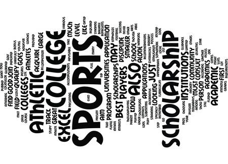 ATHLETIC COLLEGE SCHOLARSHIP Text Background Word Cloud Concept
