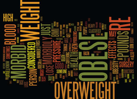 ARE YOU MORBID OBESE Text Background word cloud concept Illustration