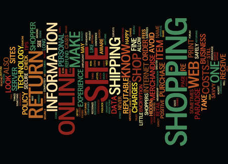 ARE YOU A SAVVY ONLINE SHOPPER Text Background word cloud concept Illustration