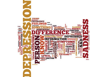 ARE YOU DEPRESSED OR UNHAPPY WHAT IS THE DIFFERENCE Text Background word cloud concept