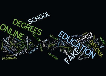 beware: BEWARE OF FAKE DIPLOMAS Text Background Word Cloud Concept Illustration