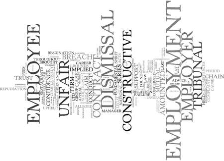 EMPLOYMENT LAW Text Background Word Cloud Concept