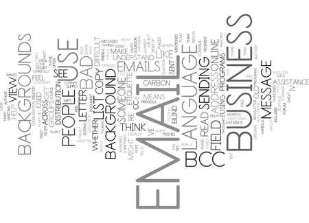 EMAIL ETIQUETTE IV Text Background Word Cloud Concept
