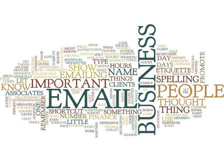 EMAIL ETIQUETTE V Text Background Word Cloud Concept Banco de Imagens - 82568854