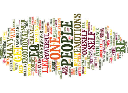 EQ IS EEN SLEUTELHULPMIDDEL VOOR SUCCES Tekstachtergrond Word Cloud Concept Stock Illustratie