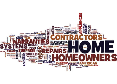 ELIMINATE THE WOES OF SURPRISE HOME REPAIRS Text Background Word Cloud Concept Illustration