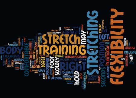 ENHANCE YOUR FLEXIBILITY Text Background Word Cloud Concept Illustration