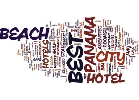 BEST HOTEL IN PANAMA CITY BEACH Text Background Word Cloud Concept