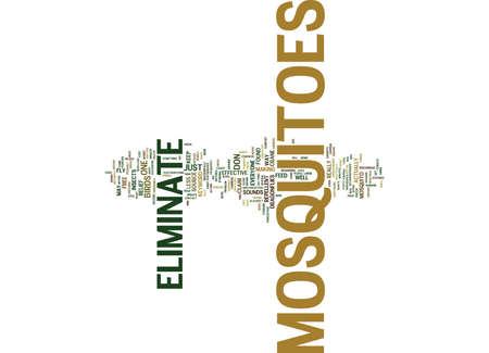 ELIMINATE MOSQUITOES Text Background Word Cloud Concept