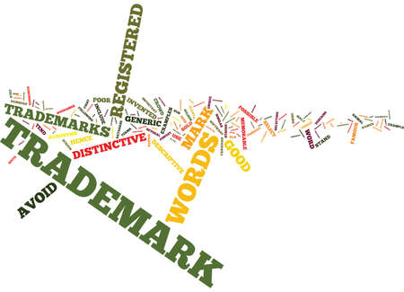 EFFECTIVE TRADEMARKS HOW TO SELECT A GOOD NAME Text Background Word Cloud Concept