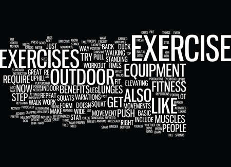 FITNESS WORKOUT Text Background Word Cloud Concept