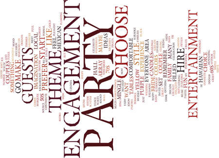 ENGAGEMENT PARTY IDEAS TO WOW THE CROWD Text Background Word Cloud Concept