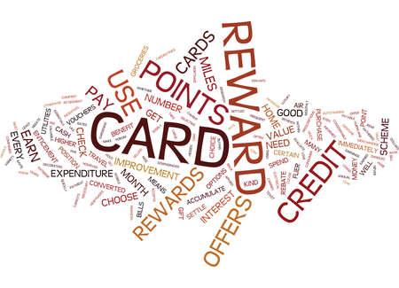 ESSENTIALS OF CREDIT CARD REWARDS Text Background Word Cloud Concept Illustration