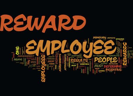 社員の報奨を得る結果テキスト背景単語雲概念