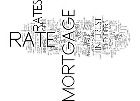 FIND THE BEST MORTGAGE RATE FOR YOU Text Background Word Cloud Concept