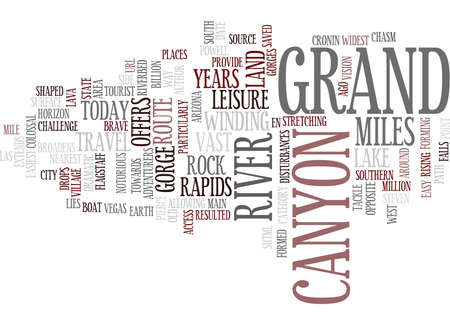 EN ROUTE FOR GRAND CANYON Text Background Word Cloud Concept