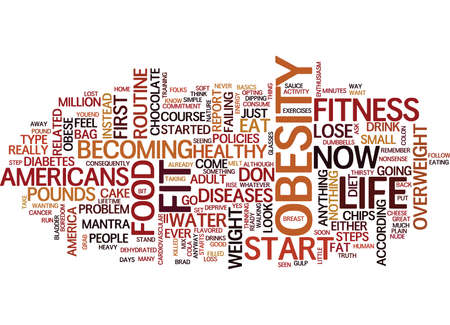 FIT FOR LIFE A NO NONSENSE LOOK AT FITNESS Text Background Word Cloud Concept