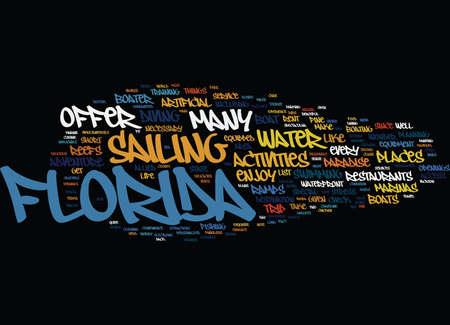 hauling: ENJOYABLE WATER ADVENTURE IN FLORIDA Text Background Word Cloud Concept Illustration