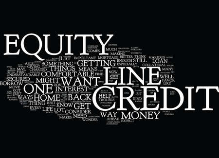 EQUITYLINECREDITS Text Background Word Cloud Concept