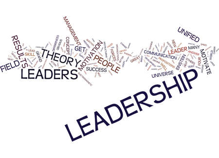 EINSTEIN THE UNIVERSE AND LEADERSHIP Text Background Word Cloud Concept Illustration