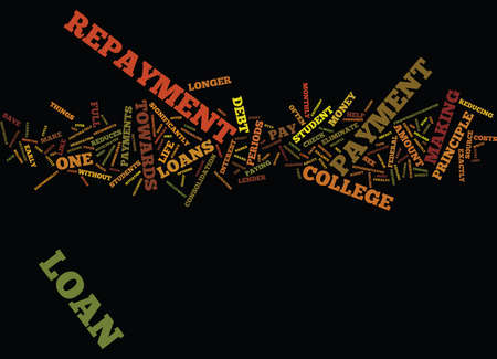 ELIMINATE COLLEGE DEBT WITH HELPFUL REPAYMENT ADVICE Text Background Word Cloud Concept