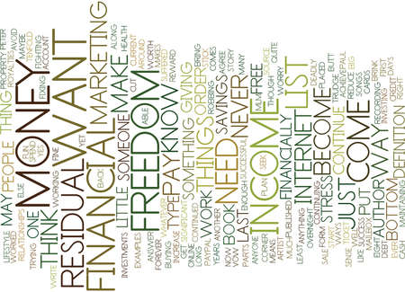 FINANCIAL FREEDOM EXAMPLES OF HOW YOU CAN DO THIS Text Background Word Cloud Concept