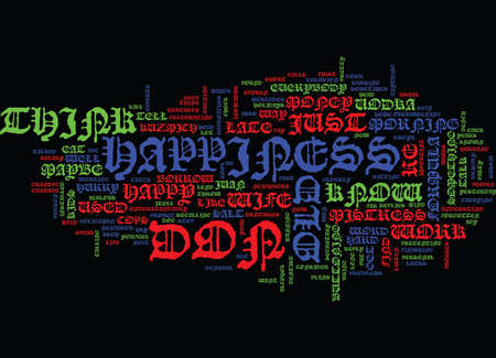 EVERYBODY IS HAPPY IN THEIR OWN WAY Text Background Word Cloud Concept Ilustração