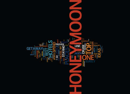 BEST HONEYMOON GETAWAY IDEAS Text Background Word Cloud Concept