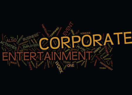 caterers: ENTERTAIN YOUR STAFF FOR LARGER PROFITS Text Background Word Cloud Concept Illustration