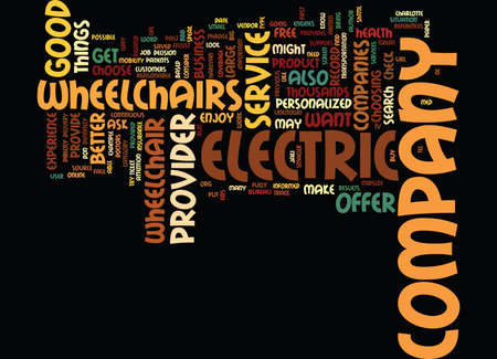 ELECTRIC WHEELCHAIRS Text Background Word Cloud Concept Ilustrace